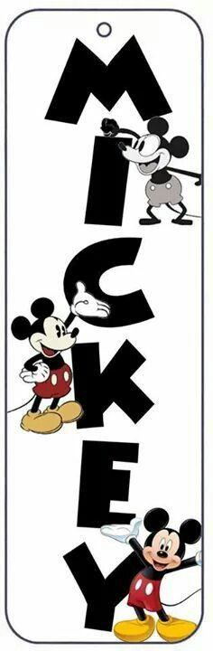 Mickey vertical bookmark
