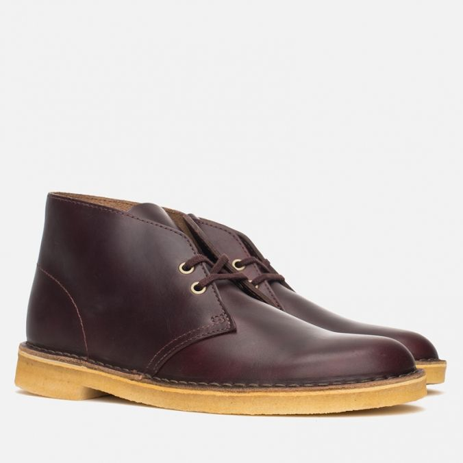 Мужские ботинки Clarks Originals Desert Boot Wine Leather фото-1