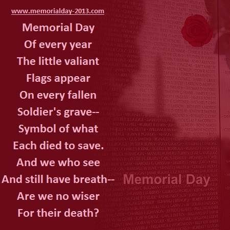 memorial day message 2013