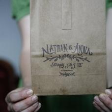great favor bag/stamp idea