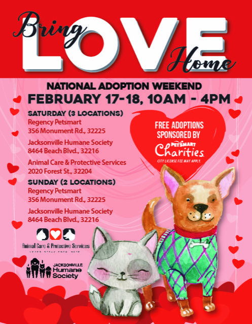 Come Find Love This Weekend With Free Adoptions On All Animals At Three Different Locations Additional Fees May Apply Visit Jaxhumane Adoption Humane Society