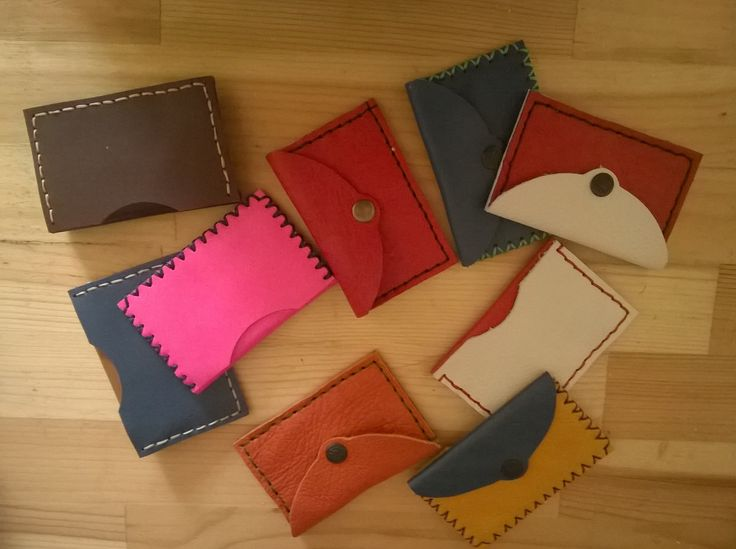 handmade leather card case