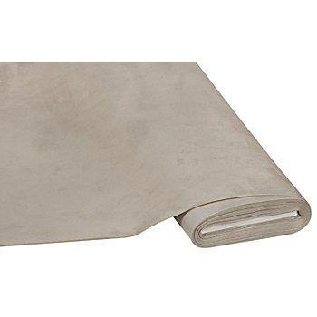 Weicher Möbel-Veloursstoff Farbe: taupe, für Couch-, Stuhl- und Kissenbezüge uvm.,mit Fleckschutz-Ausrüstung, Breite: 150 cm, Gewicht: ca. 310 g/m². Material: 100 % Polyester, Untergewebe: 100 % Baumwolle.Die pflegeleichte Microfaser mit samtiger Oberfläche und weissem textilen Untergewebe lässt sich bei Verschmutzung mit feuchtem Tuch reinigen. Vielseitig geeignet für Couch-, Stuhl- und Kissenbezü...