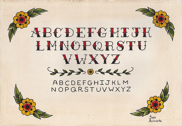 American traditional lettering