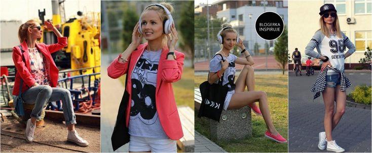 Sportowy look: bluzy, spodnie, buty - Trendy w modzie - Domodi.pl