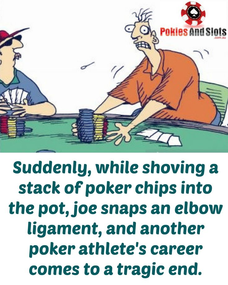 Suddenly, while shoving a stack of poker chips into the pot, joe snaps an elbow ligament, and another poker athlete's career comes to a tragic end. #poker #playpokeronline #pokiesandslots