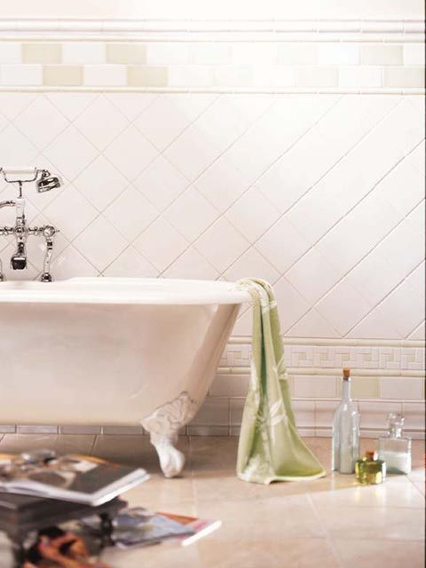White Square Tile Bathroom 86 best different ways of tiling images on pinterest | bathroom
