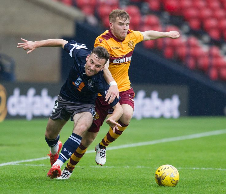 Queen's Park's Chris Duff in action during the Betfred Cup game between Queen's Park and Motherwell.
