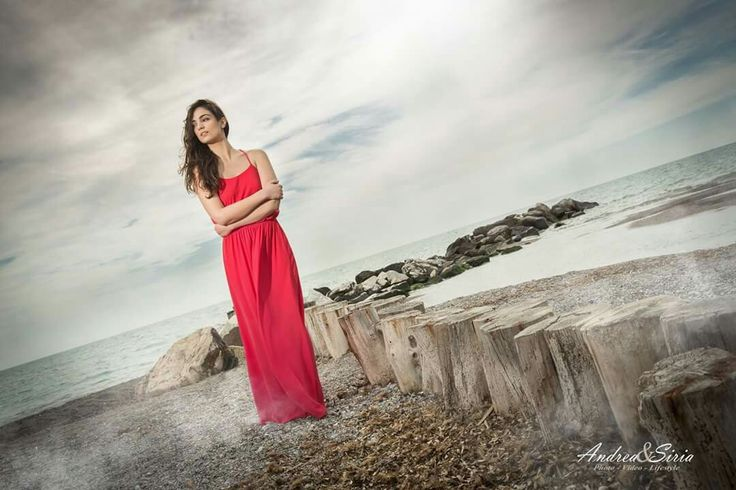 The Red Dress  #dress #andreaesiria #shooting #red #Cecina #Tuscany #Canon #model #beach #sunset #photography