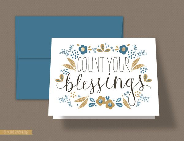 """""""Blessings"""" Card Download #free #Thanksgiving #printable"""