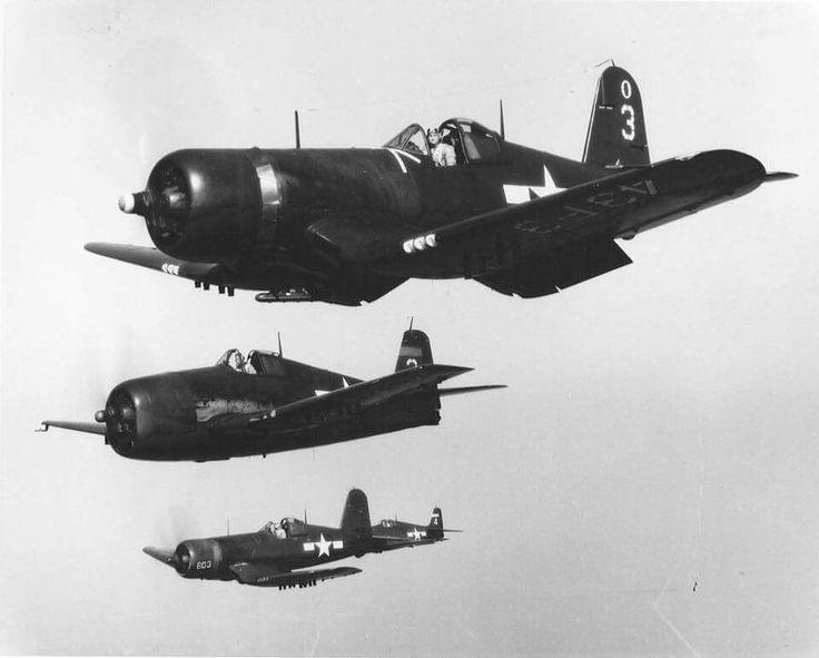 Vought F4U Corsairs and Grumman F6F Hellcats