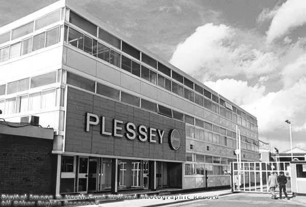 Exterior image of telephone manufacturer, Plessey , Beeston Notts