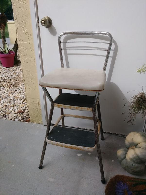 Marvelous Retro Metal Stepstool With Seat Cosco For Sale In Fort Uwap Interior Chair Design Uwaporg
