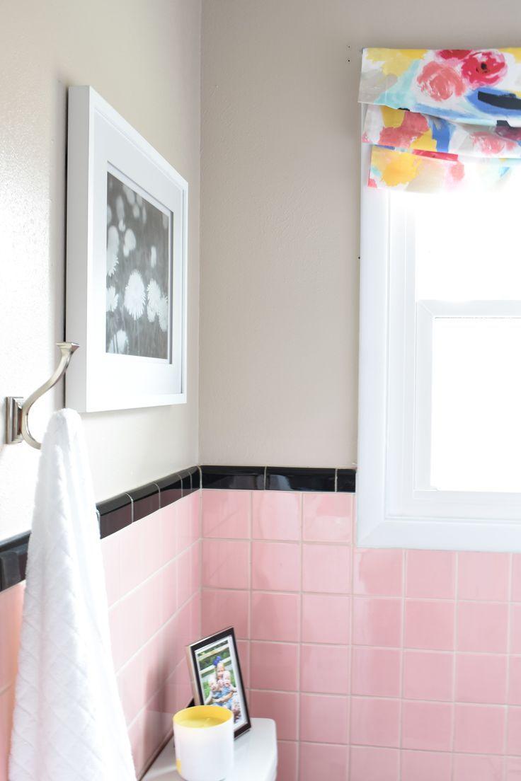 Pink Tile Bathroom Refresh In 2019 Tiles