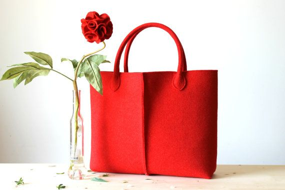 Elegant and Casual Felt Bag from Italy Tote Bag Felted от Lefrac