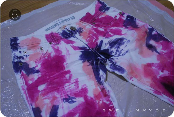 Dyed 80's paint pants