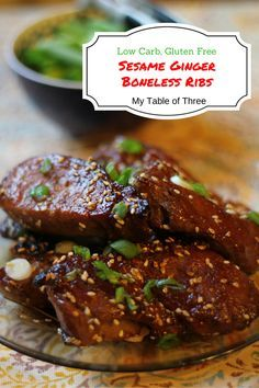 Sesame Ginger Country Style Ribs (Low Carb, Gluten Free)