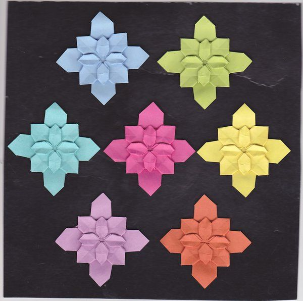 Origami hydrangea post it note by tanteiblack d6hafuu 1枚の折り紙から作るあじさい