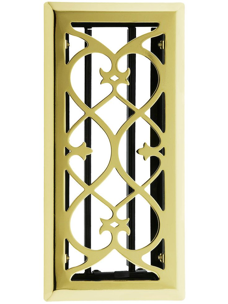 EuropeanStyle Floor/Wall Register with Adjustable Louver