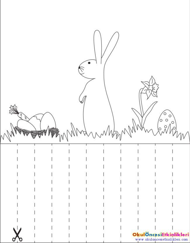 """Tavşana yumurtasını otun içine sakla - OKUL ÖNCESİ ETKİNLİKLERİ """"Hayallerinizi Sınırlamayın"""""""