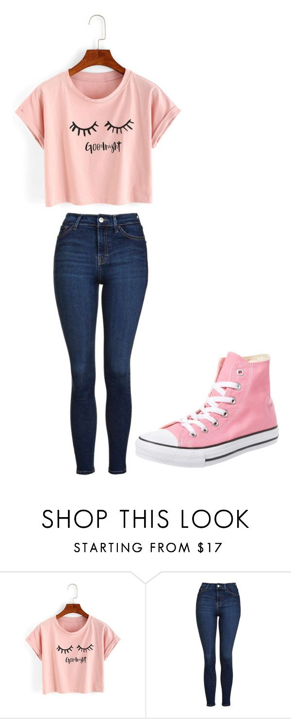 """""""Untitled #231"""" by cruciangyul on Polyvore featuring WithChic, Topshop and Converse"""