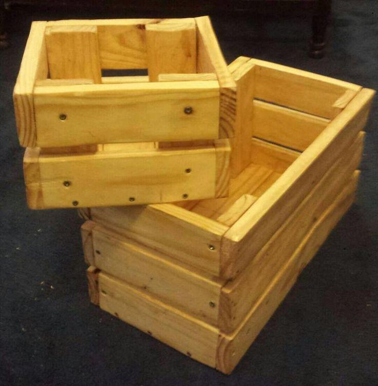 Wooden Pallet Crate Boxes   Pallet Furniture DIY