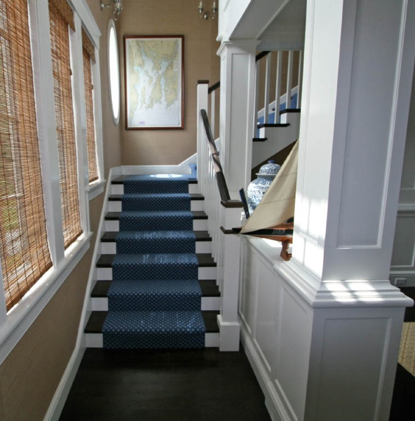 Wooden Stairs With Painted Stripes Updating Interior: 24 Best Images About Beach House Stairs On Pinterest