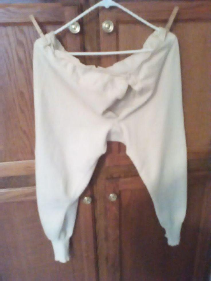 Men's Drawers Button Fly cotton Civil War reenactment long underwear #Drawers