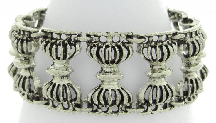 Kalervo Sainio pewter bracelet hourglass