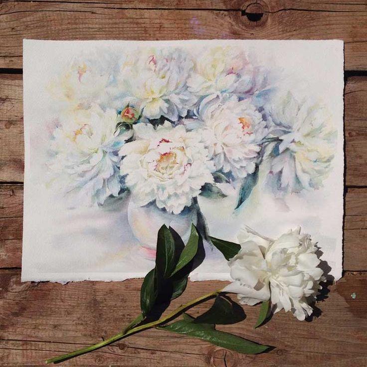 Sanatlı Bi Blog Çiçekleri Suluboya ile Resmeden Sanatçıdan İlham Verici 20 Çalışma 18