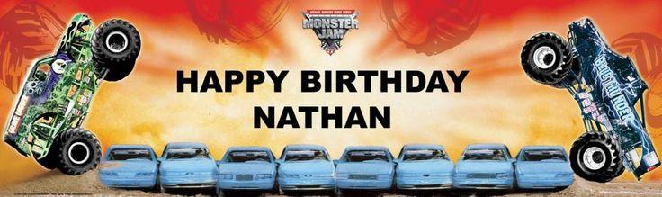 Monster Jam Personalized Birthday Banner