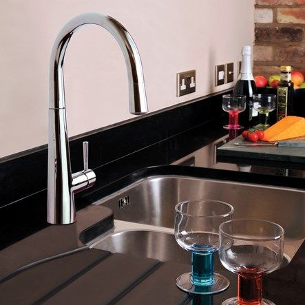 Mayfair Palazzo Kitchen Sink Mixer Tap With Pull Out Spray