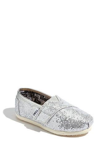 TOMS 'Classic Tiny - Glitter' Slip-On: Babies, Babygirl, Baby Toms, Girl Shoes, Baby Walkers, Baby Girls, Girls Shoes, Toddler, Kid