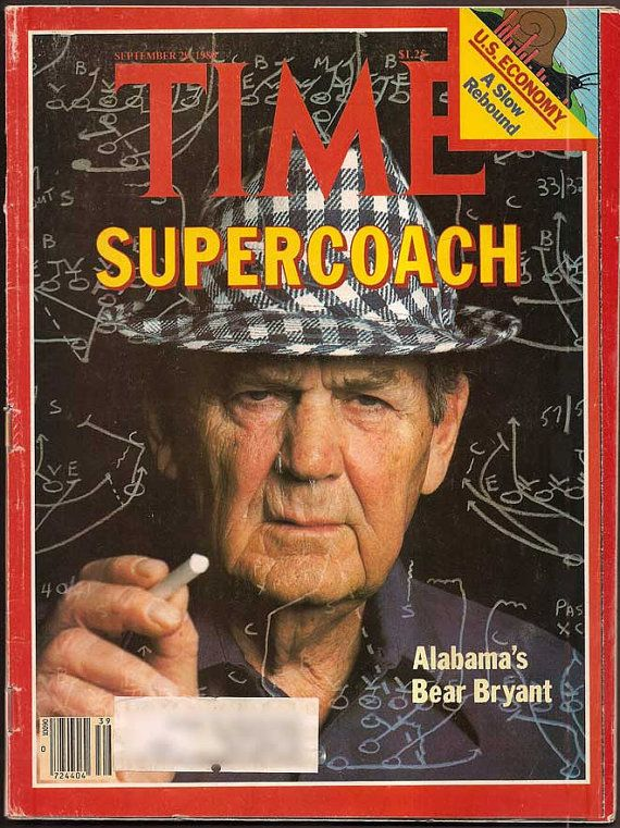 Bear Bryant Vintage TIME Magazine Supercoach
