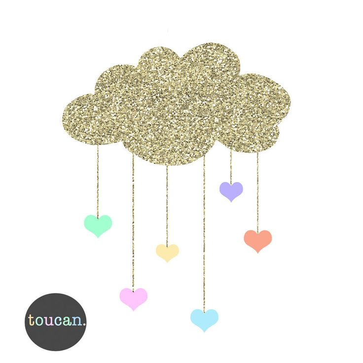 Cloud and hearts - toucan