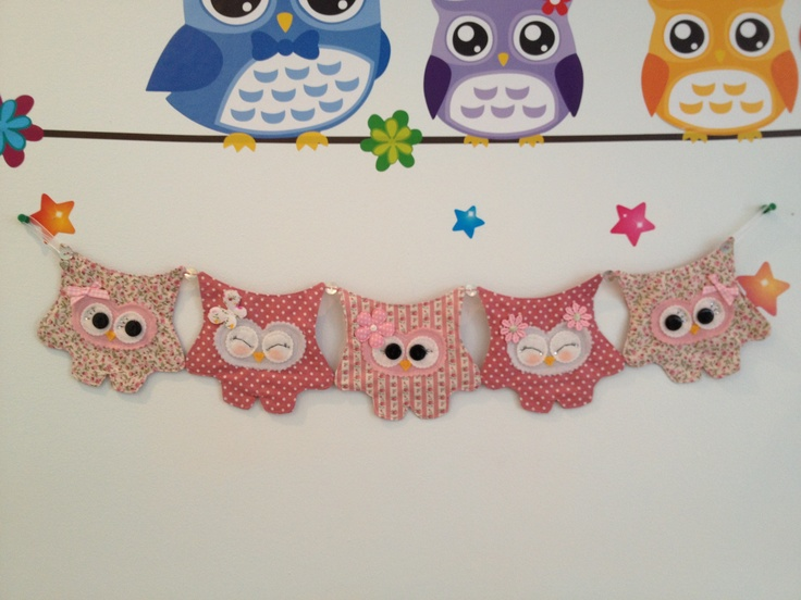 ❤ 5 Shappy Chic Hoot Bunting ❤