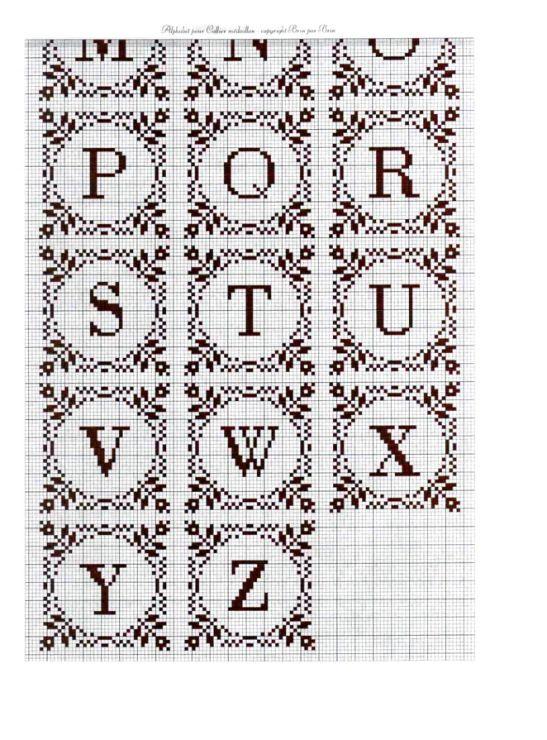 cross stitch alphabet for monograms. Gallery.ru / Photo # 4 - 42 - oblakooo