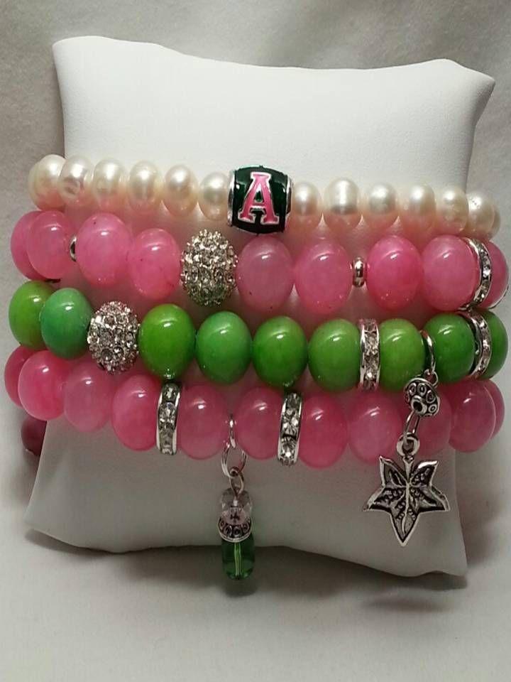 009194525 Lady AKA bracelet | AKA Sorority, Inc. | Aka sorority, Alpha kappa alpha  sorority, Alpha kappa alpha