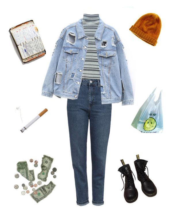 """we are"" by erosmania ❤ liked on Polyvore featuring Topshop, Madewell, Dr. Martens and Peek"