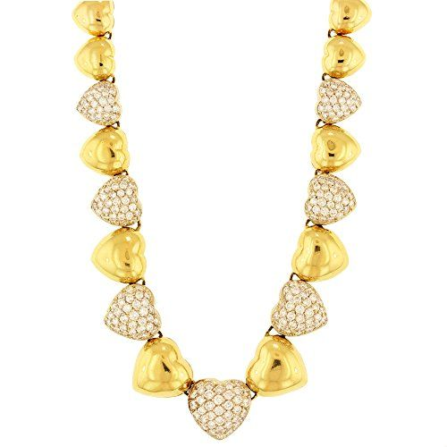 "Girls Diamond necklace 5.14 cttw Spherical Sensible Minimize Diamonds set in 18k yellow gold, 16 inches Lengthy Girls 18k Yellow Gold Diamond Necklace 5.14 cttw sixteen"" Lengthy Center Form Layout 5.14 cttw Spherical Sensible Minimize Layout IGI Certificates"