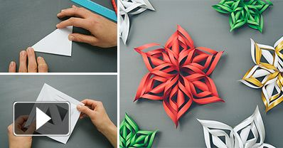 How to Make 3D Paper Snowflake - DIY & Crafts - Handimania