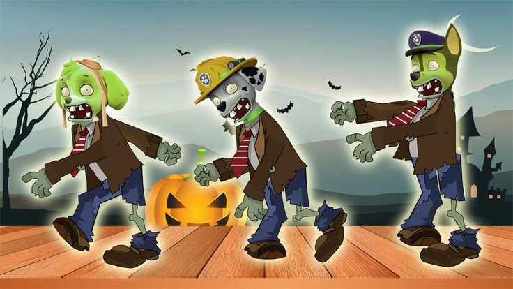 Paw Patrol Transforms Into Zombie Dance 5 Five Little Monkeys Jumping On...