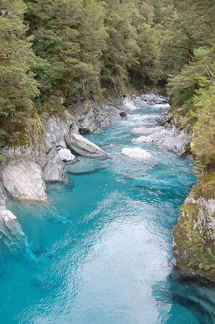 Blue Pools Track, Makarora River, New Zealand