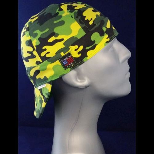 Neon Green Camo Welding Hat