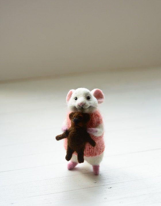 Naald van vervilte wol MADE TO ORDER handgemaakte voelde pop vilt speelgoed…