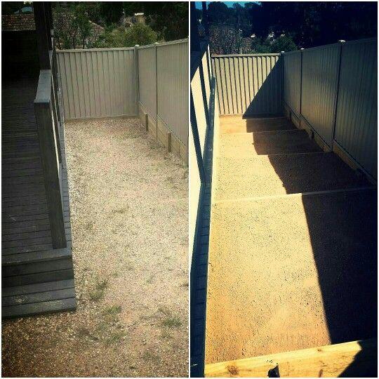#beforeandafter #steps #granitesand #cashy #takingoverthelandscapingworld