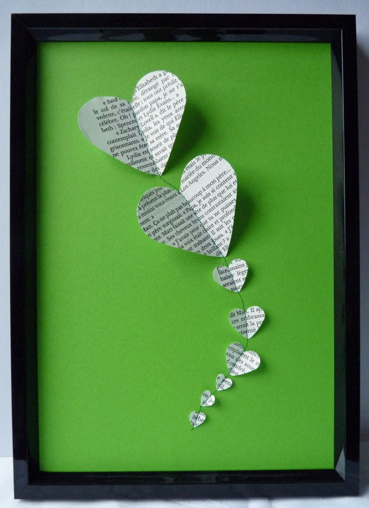 Valentines Day Art Heart Picture in mixed media