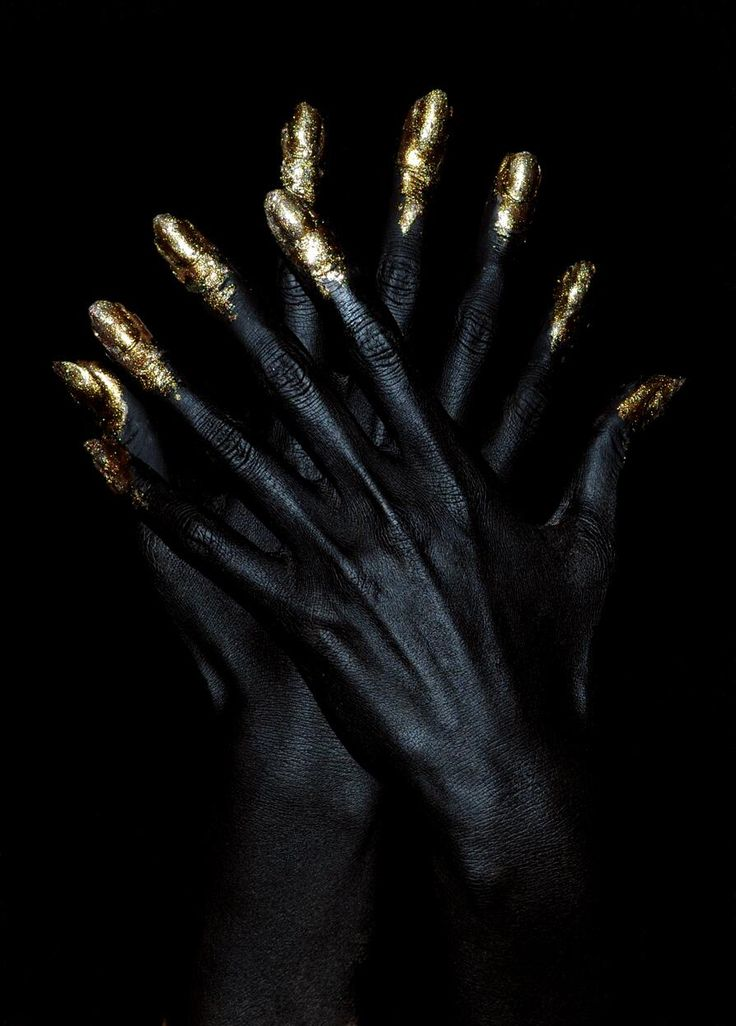 Inspriation - Black are the hands which even tipped with gold proclaim their deed!