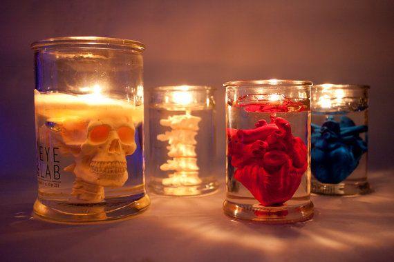 EYE LAB collection. skull>>>back bone>>>red heart>>>blue heart