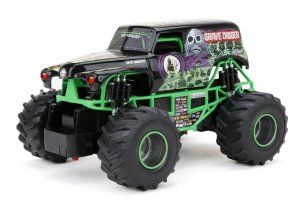 New Bright F/F Monster Jam Grave Digger RC Car Full Function. Forward/Reverse Drive, Left/Right Steering. Left/Right Steering. http://awsomegadgetsandtoysforgirlsandboys.com/mens-toys-gadgets/ New Bright F/F Monster Jam Grave Digger RC Car
